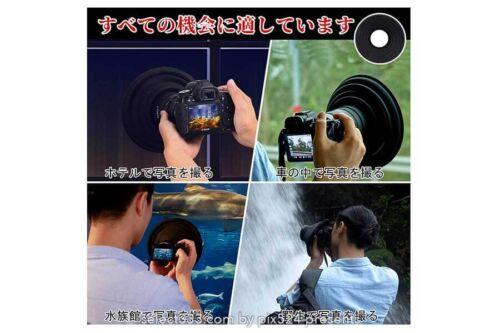 ガラス越しの被写体撮影での映り込み防止!夜景や車窓撮影に!ラバーレンズフードが便利