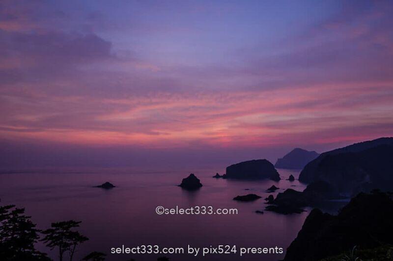 あいあい岬の夕日と星空!伊豆半島南端の夕日と天の川撮影地!岩礁も魅力的な景勝地