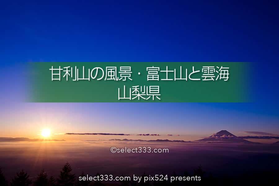 甘利山から見る風景!富士山と雲海・夜景の絶景ビューポイント!山梨県の絶景地甘利山