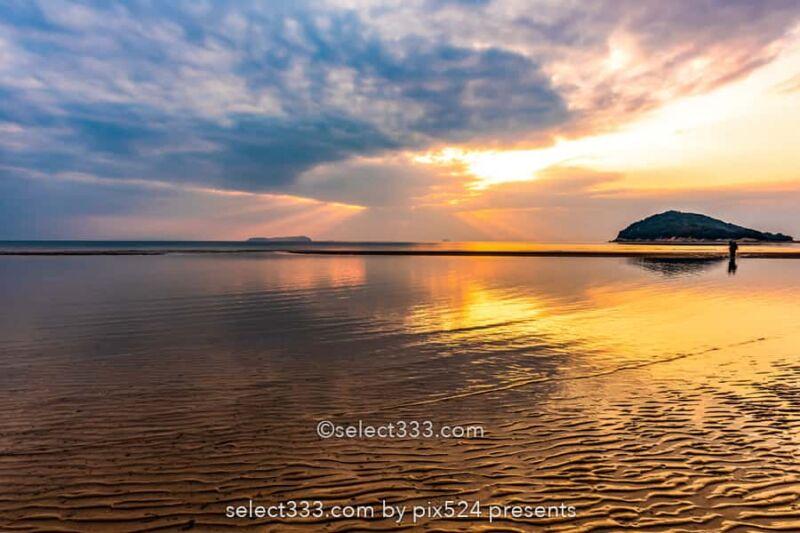 父母ヶ浜のリフレクション撮影!干潮のチェック方法とアクセス!瀬戸内海のウユニ塩湖