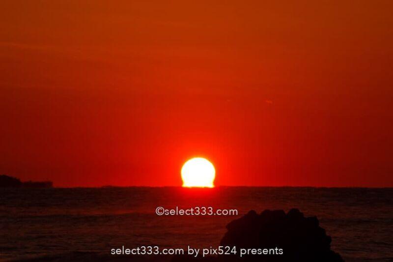 だるま朝日・だるま夕日の撮影!水平線の太陽の蜃気楼いつ見える?関東近郊の撮影地