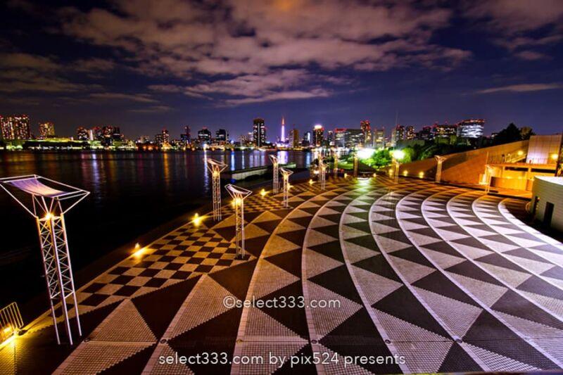 晴海ふ頭公園と客船ターミナルの夜景!変貌する晴海埠頭エリア!東京夜景デートスポット