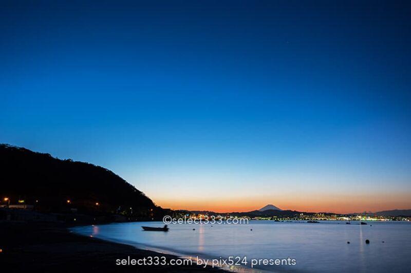 走水海岸の富士山!走水海水浴場からの夕焼けと富士山の絶景!横須賀の富士山撮影地