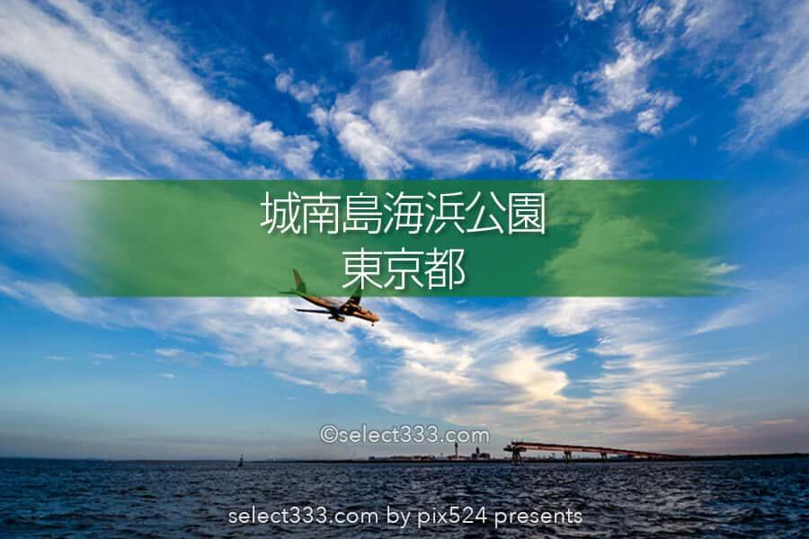 城南島海浜公園で飛行機撮影!羽田の離着陸が間近で見える撮影地!都内の航空機撮影地
