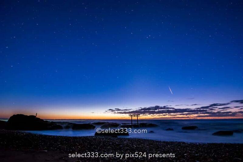 神磯の鳥居と朝日の撮影!大洗磯前神社・海からの日の出と朝焼け!パワースポットの風景