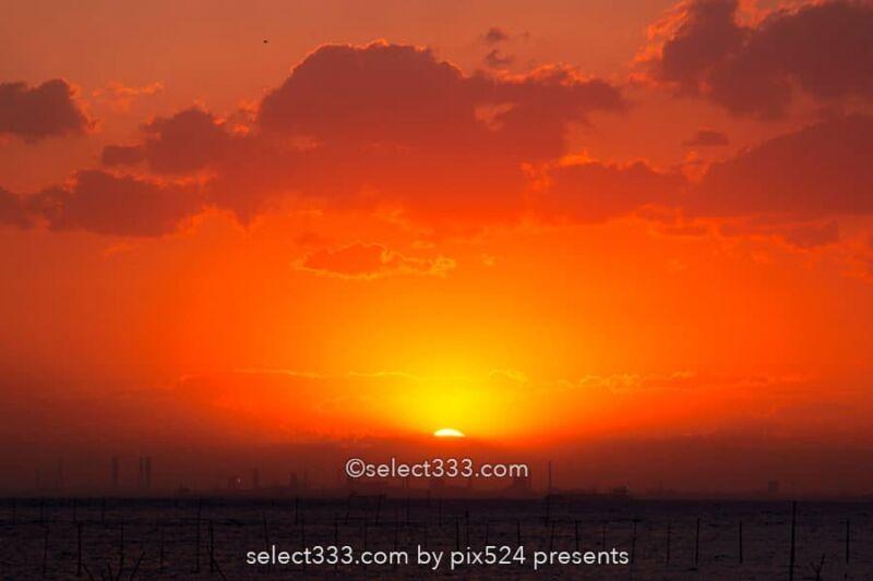 金田みたて海岸の夕日・夕焼け撮影地!富士山も見える海の風景!内房の夕陽スポット
