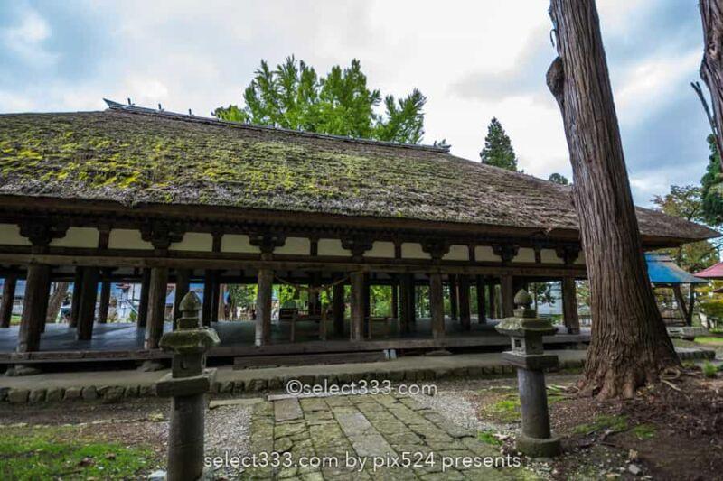 新宮熊野神社の長床と大イチョウ!黄葉が見事な喜多方の名勝!熊野三山を祀る神社