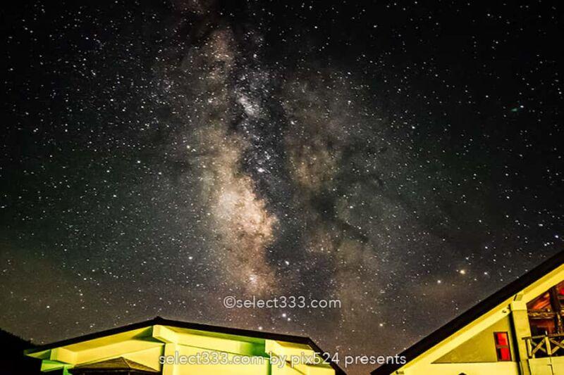 草津白根レストハウス・弓池から天の川撮影!草津白根山の星空!満天の星降る絶景撮影地