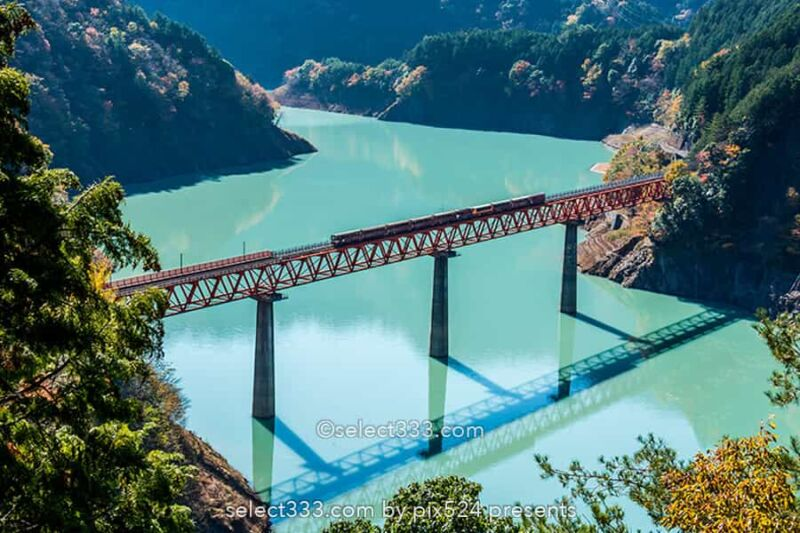 奥大井湖上駅とレインボーブリッジの撮影!大井川鐵道井川線!映える湖上の鉄橋と列車