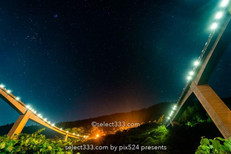 雷電廿六木橋と星空の撮影!秩父の山奥のループ橋と滝沢ダム!埼玉県の星空撮影地