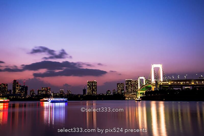 レインボーブリッジの撮影!東京湾岸ビューベストポジション!東京ランドマーク