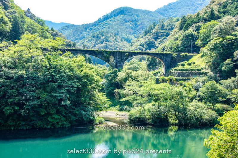 下津井めがね橋(佐川橋)森林軌道の橋はノスタルジアを誘う風景!高知県のレトロな架橋