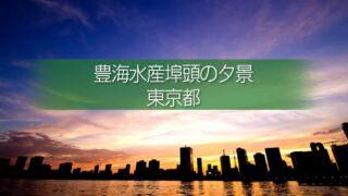 豊海水産埠頭の夕焼・夜景の撮影!都心のビル群と東京湾の眺望!東京の水辺撮影地