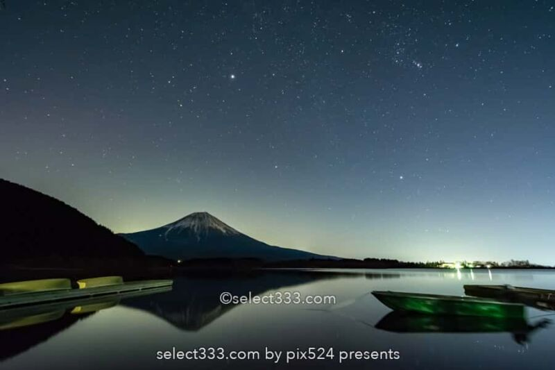 夜の富士山の撮影!月明かりで映える富士山!月夜の風景撮影!富士山の撮影地