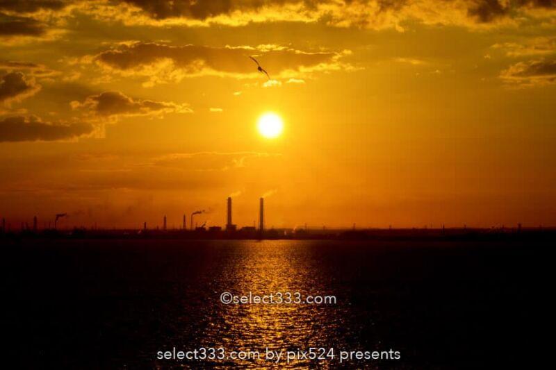 海ほたるPAから撮る朝日・夕日・夜の風景!東京湾アクアライン!千葉県と東京の風景