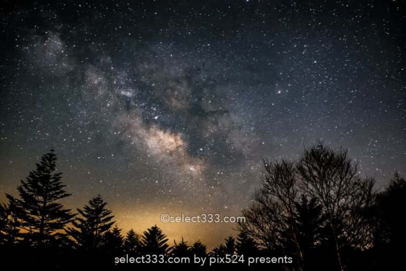 美ヶ原高原の天の川!満天の星の絶景高原で天の川銀河の撮影!長野県の星空絶景地