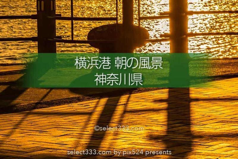 横浜港の朝日撮影!美しい横浜の海の風景を薄明から日の出まで!横浜湾岸朝日の撮影地
