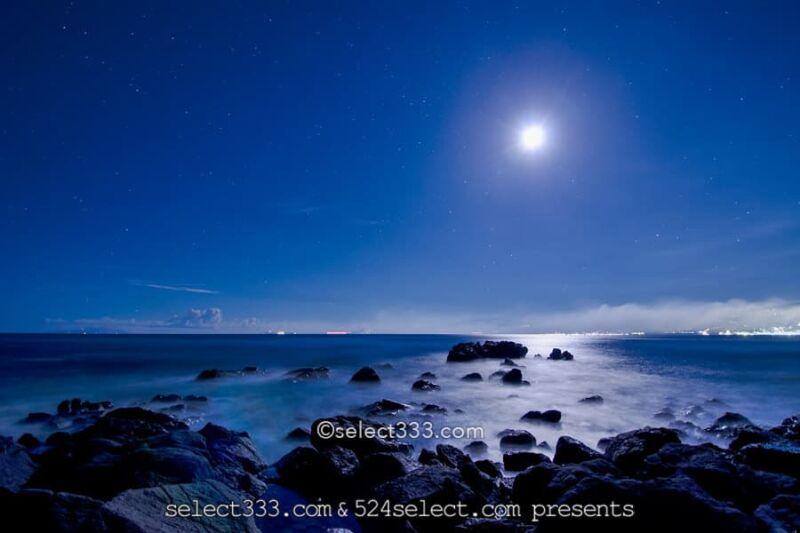 ムーンロードの撮影!海で見える月の道撮影方法!月が作る光の道!月の道はいつ見える