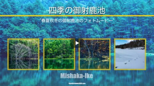 春夏秋冬の御射鹿池(みしゃかいけ)の景色アクセスと攻略!撮影するなら早朝が狙い目?