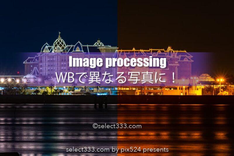 ホワイトバランスだけで劇的に変えるデジタル現像の作品作り!1枚の写真を異なる写真に