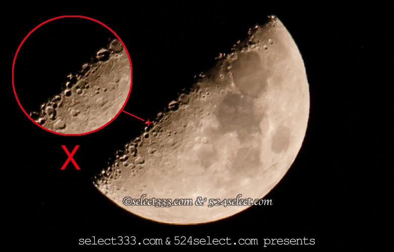 月面の文字を探そう!月に現れるアルファベット月面X・Y・L!月面エックスが見える日は?