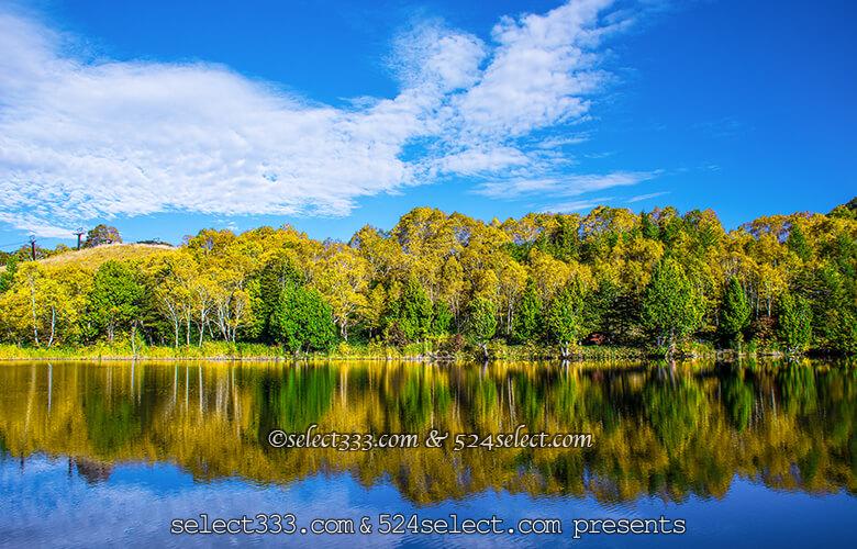 志賀高原エリア秋の水辺散策を!志賀高原の紅葉が映える池撮影!木戸池・一沼・蓮池エリア
