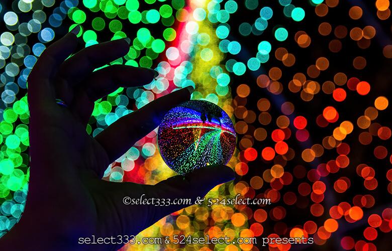イルミネーション撮影アイテム!水晶玉でイルミや夜景撮影!水晶で手軽にインスタショット