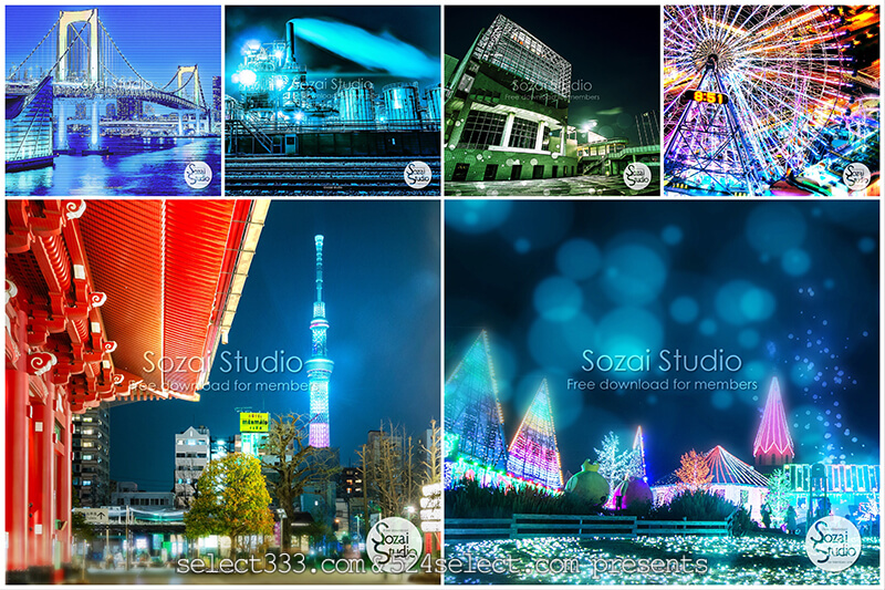 現像バリエーションと加工写真をフリー素材で!素材スタジオ!無料画像提供サイトオープン