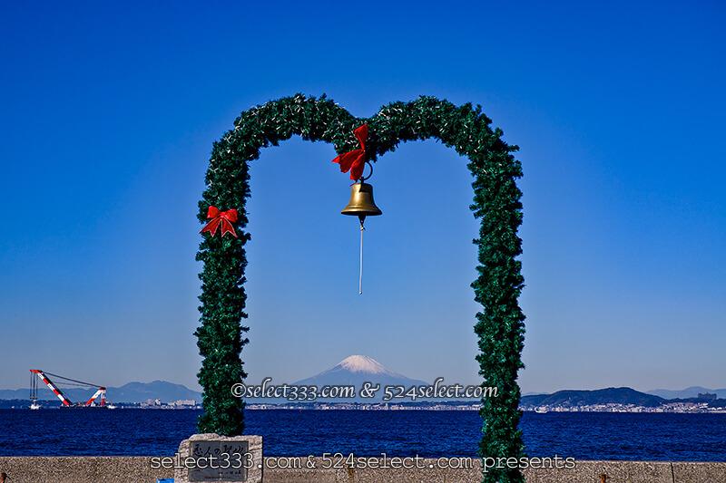 千葉県金谷港から見える富士山!東京湾越し富士山ビュースポット!恋人の聖地鐘と共に