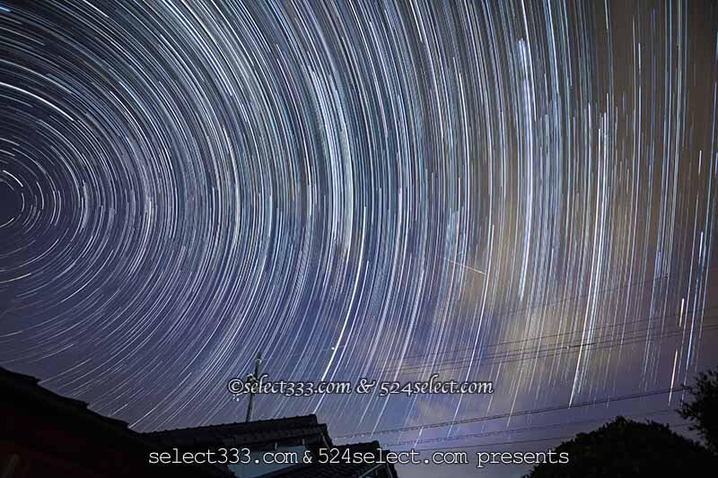 流星群のコンポジット(比較明合成)荒技!流星群画像を1枚に!コンポジット方法の例