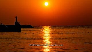 海の上に現れる朝日や夕日の光の道を撮ろう!太陽が作る海の道!朝日と夕日の撮影