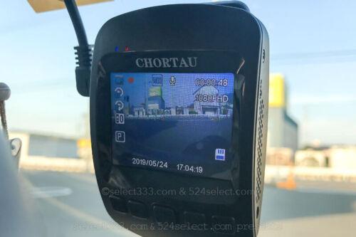格安海外ドラレコchortauドライブレコーダー取り付けてみました!使用感と性能レポート