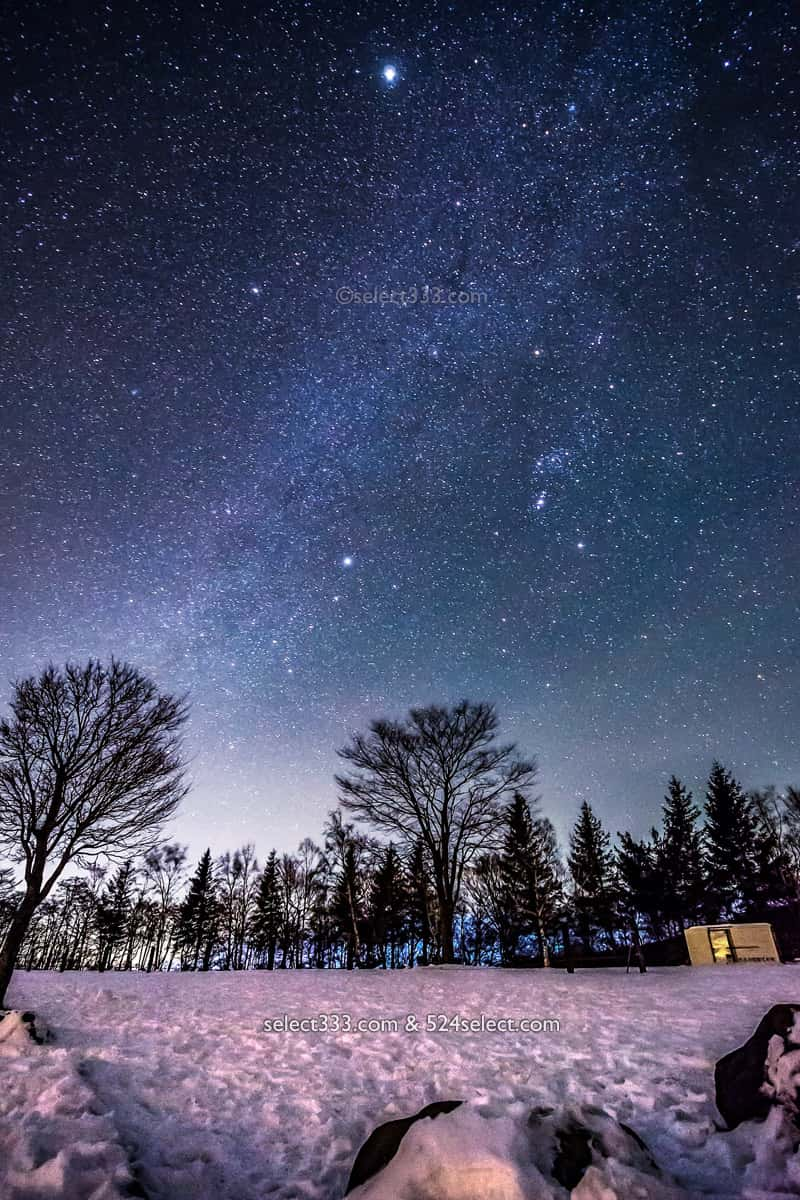 冬の星空撮影!雪山での夜空の撮影・注意点とマストアイテム!雪の撮影地で満天の星