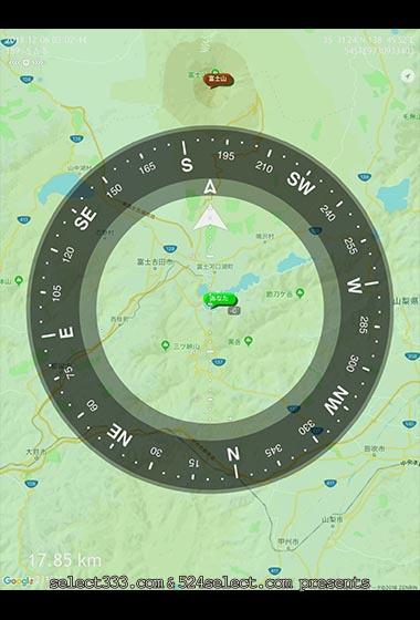 現在地から遠景距離測定!スパイ気分の風景撮影アイテムアプリ!CommanderCompassGo
