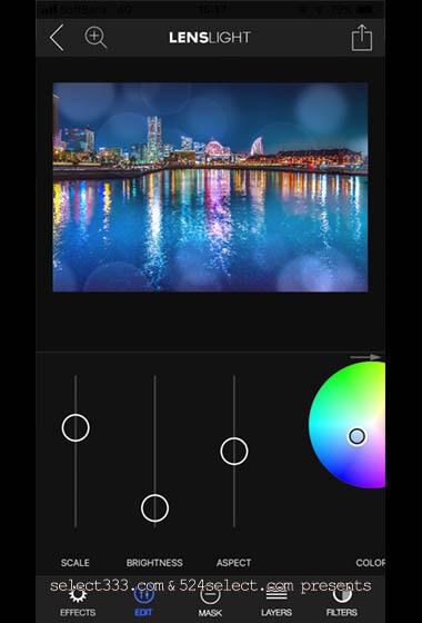 Lens Light!インスタ映えするボケやフレア・キラキラ加工アプリ!レイヤーでアレンジ