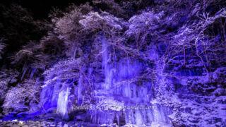 圧巻のつらら奥秩父の三十槌の氷柱アクセス方法と撮影攻略!ライトアップが美しい氷の芸術