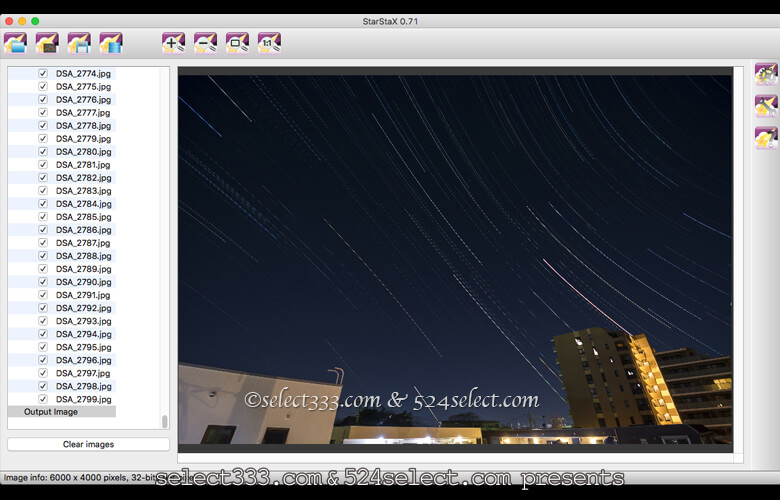 StarStaXは比較明合成が瞬時!月や星の軌跡を作品にする方法!コンポジットアプリの定番