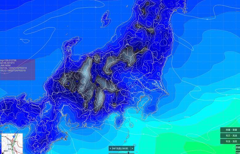SCW気象予報で雲確認!風景写真家の事前チェックサイト!スマホ対応GPVの進化版