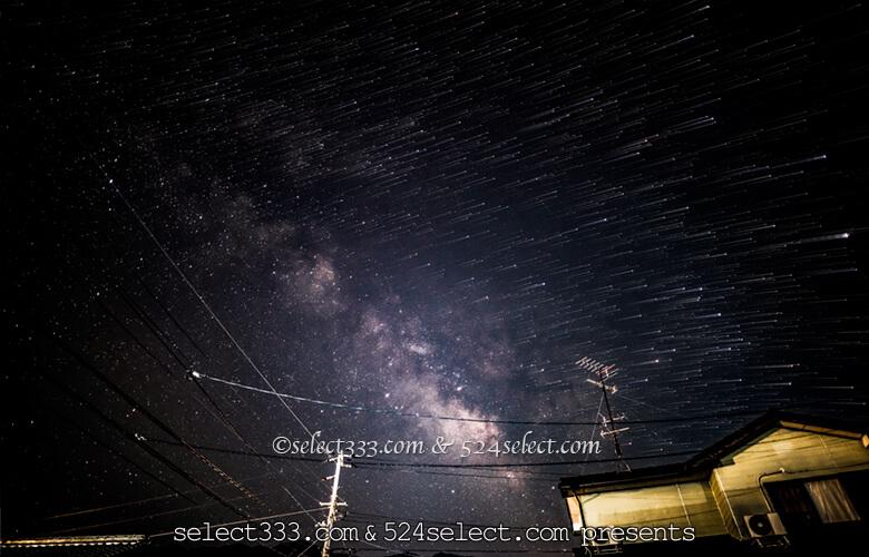 星の軌跡インターバル撮影方法と比較明合成のバリエーション!無駄画像もアレンジで使用