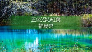 五色沼と裏磐梯の湖沼群巡り避暑や紅葉期に行きたいエリア!撮影スポットへのアクセス