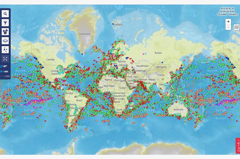 護衛艦から豪華客船まで船舶の位置を表示マリントラフィック!MarineTrafficで世界の旅