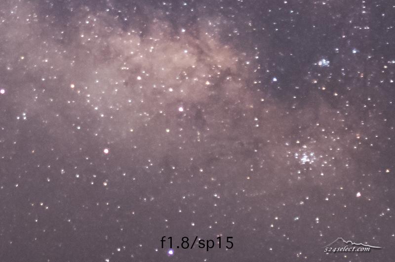 星空撮影の設定比較例〜せっかく撮るなら星を点で写したい!シャッタースピード15秒と30秒の違い