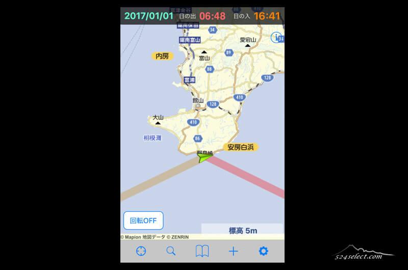 日の出日の入りマピオン!日の出方角日の入り方角を知るアプリ!撮影現場での目安に便利