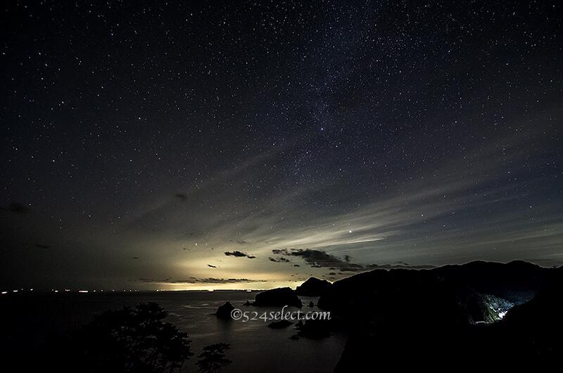 あいあい岬伊豆の最南端夕日から天の川まで撮影できるスポット!岩礁も魅力的な風景